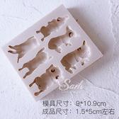 狗年睡中小狗柯基法斗貓咪翻糖硅膠模具滴膠模巧克力模『米菲良品』