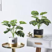 擺件ins北歐創意模擬植物裝飾客廳小盆栽擺件家居室內綠植假盆景擺設 小明同學