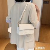 法國小眾女士包包夏季新款潮時尚鱷魚紋小方包百搭單肩側背包 極簡雜貨