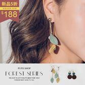 PUFII-耳環 清新綠色系多款造型耳環 2色-0920 現+預 秋【CP15192】