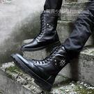 秋冬季高筒馬丁靴韓版男士長靴子軍靴