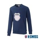 K-SWISS Court Sweaters圓領長袖上衣-女-深藍