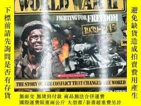 二手書博民逛書店World罕見War Two Fighting for Free