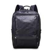 真皮後背包-牛皮大容量多隔層電腦包男雙肩包73xp24【時尚巴黎】