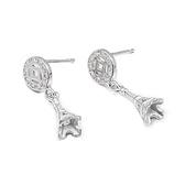 耳環 925純銀鑲鑽-時尚氣質生日情人節禮物女飾品73dm131[時尚巴黎]