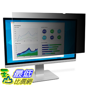 [106美國直購] 3M PF190C4B 螢幕防窺片 3M Privacy Filter 19吋 Standard Monitor Reduces glare reflections (5:4)