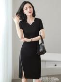 職業裝連身裙新款女裝氣質收腰職業一步裙OL工裝裙法式復古裙 萬聖節鉅惠