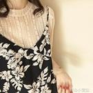 蕾絲上衣蕾絲打底衫女夏新款韓版短袖內搭很仙的上衣顯瘦洋氣透視小衫育心小館