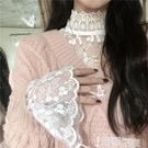 蕾絲打底衫 蕾絲長袖打底衫女新款毛衣內搭網紗洋氣小衫花邊上衣仙女甜美超仙 智慧e家 新品