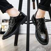 馬丁鞋男韓版英倫男士工裝大頭休閒皮鞋男百搭潮流亮皮男鞋子 『夢娜麗莎』