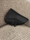 ■專櫃88折■ 全新真品■Dior 黑色 Dior Oblique Galaxy 皮革迷你 Saddle 馬鞍包