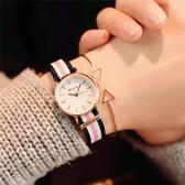 手錶 女學生韓版簡約復古潮流韓國可愛休閒大氣女款小錶盤-凡屋