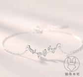 銀杏葉手鏈女925純銀小眾設計韓版簡約手飾閨蜜禮物【貼身日記】