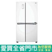 LG830L四門對開冰箱GR-DL80W含配送到府+標準安裝【愛買】