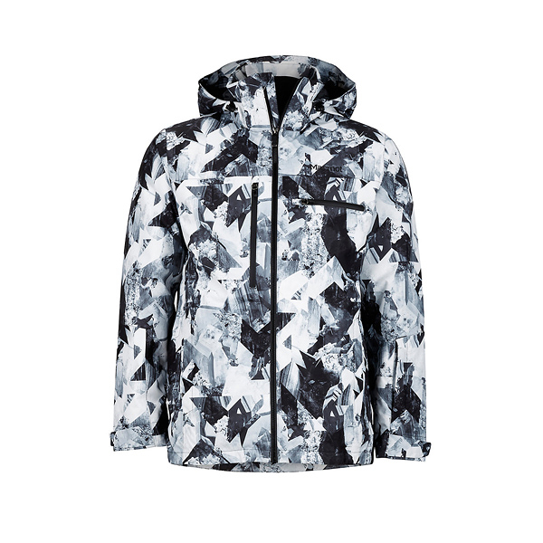 [Marmot] (男) Corkscrew Featherless 防水透氣保暖雪衣 黑/冰川紋 (M74080-8671)