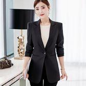 西裝外套 西裝外套女中長款2018秋裝新款韓版氣質修身百搭顯瘦長袖小西服潮