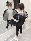 兒童牛仔外套女童秋冬裝新款牛仔外套韓版兒童女加厚洋氣連帽加絨夾克潮衣伊芙莎旗艦店