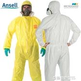 防護服連體全身化學實驗室防酸堿工作服噴漆防塵防化服生化隔離服 全館免運