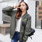 飛行夾克 韓版 徽章字母棒球外套 紐約周