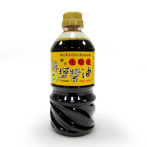 【台灣尚讚愛購購】屏大-薄鹽醬油560ml(非基因改造黃豆)[屏科大]