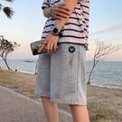 針織短褲男潮流夏季外穿休閑五分褲寬松直筒運動中褲沙灘褲5分褲