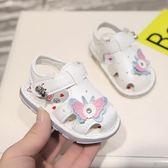 夏季閃燈可愛寶寶涼鞋女0-1-3歲女童防滑軟底公主學步鞋嬰兒鞋子2【全館89折低價促銷】