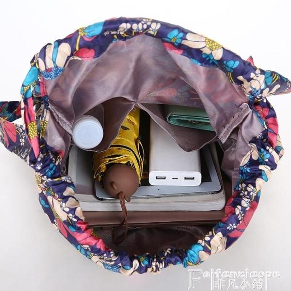 尼龍後背包 韓版百搭尼龍束口袋後背包防潑水運動背包學生大容量輕便旅行大包 夏季新品
