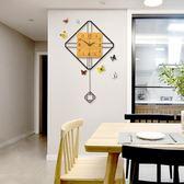 掛鐘 創意時鐘北歐現代簡約大氣潮流裝飾餐廳 LQ3925『科炫3C』TW