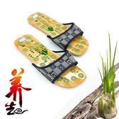 日式桂森按摩木屐創意健康涼鞋情侶人字拖防滑沙灘拖鞋居家木拖鞋 盯目家