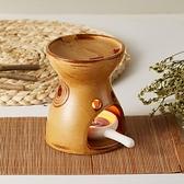 日式竹架陶瓷分體家用臥室創意熏香蠟燭精油機香薰爐香薰燈