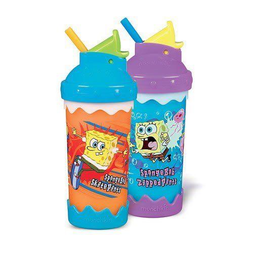 【奇買親子購物網】Munchkin 海綿寶寶吸管喝水杯(9oz)