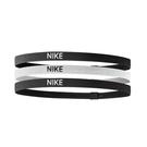 Nike 髮帶 Elastic Hairbands 黑 白 男女款 頭帶 運動休閒 【ACS】 NJN0403-6OS