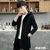 2020春秋新款風衣男潮流中長款修身帥氣加絨加厚韓版秋季男士外套 創意新品