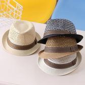 新款草帽韓版禮帽男童寶寶爵士帽夏款遮陽帽兒童3-6歲太陽帽9潮『新佰數位屋』