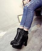 靴子馬丁靴女英倫短靴女粗跟高跟網紅靴子女冬靴女鞋矮靴