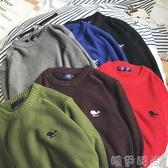毛衣港風文藝季季韓版男士圓領套頭百搭毛衣青年學生修身針織衫