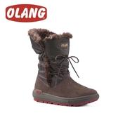 【OLANG 義大利 HUPA OLANTEX 皮面防水雪靴《咖啡》】1601/保暖/滑雪/雪地