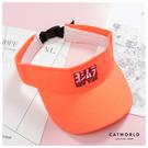 Catworld 螢光日系空頂遮陽帽【18003677】‧F