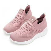 PLAYBOY 個性步伐 針織襪套內增高鞋-粉(Y5732)
