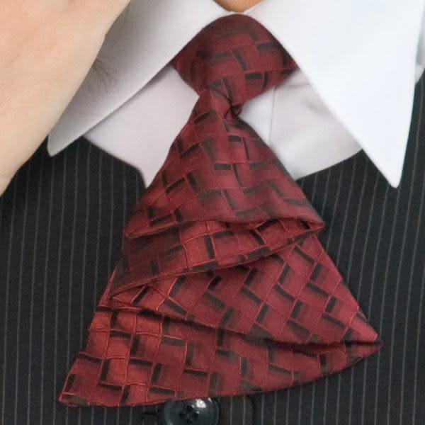 【LG-12】焦點魅力-甜美點綴OL時尚領結(暗紅)