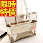 手提包-透明俏麗防水可肩背女果凍包3色57a33【巴黎精品】
