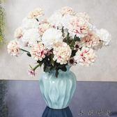 歐式假花仿真玫瑰花套裝絹花陶瓷花瓶