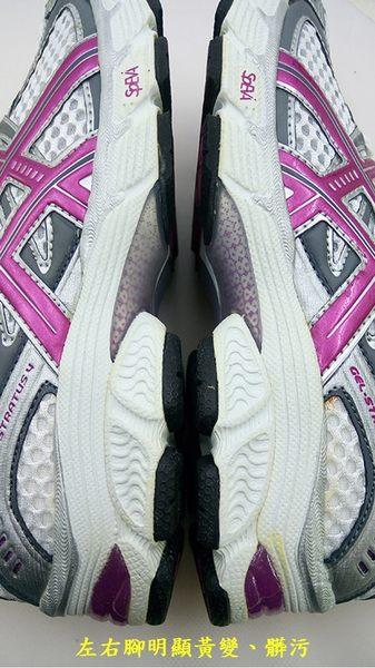 LIKA夢 Asics亞瑟士 專業慢跑鞋 GEL-STRATUS 4 白紫灰 T0J5N-0136 女 超殺NG商品