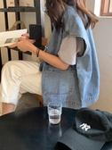 牛仔馬甲女年早春新款網紅潮流百搭寬鬆外搭疊穿背心馬夾外套 瑪麗蘇
