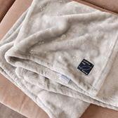 《花花創意會社》外流。閃閃亮片灰色仿珊瑚絨小蓋毯【H5820】