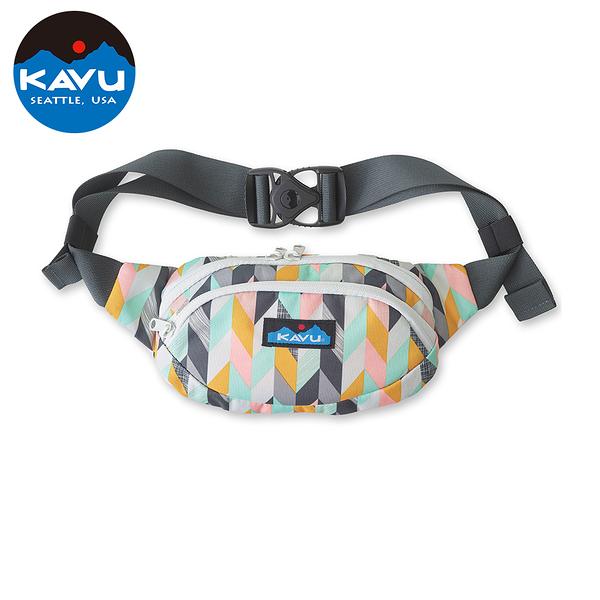 【西雅圖 KAVU】Spectator 休閒腰包|肩背包 人字紋素描 #9065
