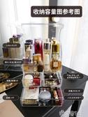 透明防塵化妝品收納盒桌面置物架口紅護膚品亞克力梳妝台整理 免運快出