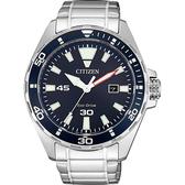 CITIZEN 星辰 光動能運動風手錶-藍x銀/43.5mm BM7450-81L