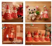 【韓風童品】DIY創意祝福聖誕卡片 聖誕禮物包裝袋  聖誕帽造型立體創意卡片