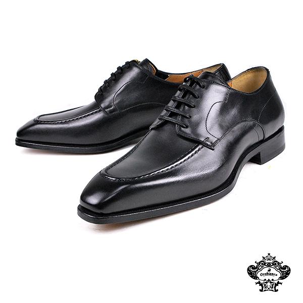 【Orobianco】經典U-tip德比紳士鞋 黑色(FLY07-BL)